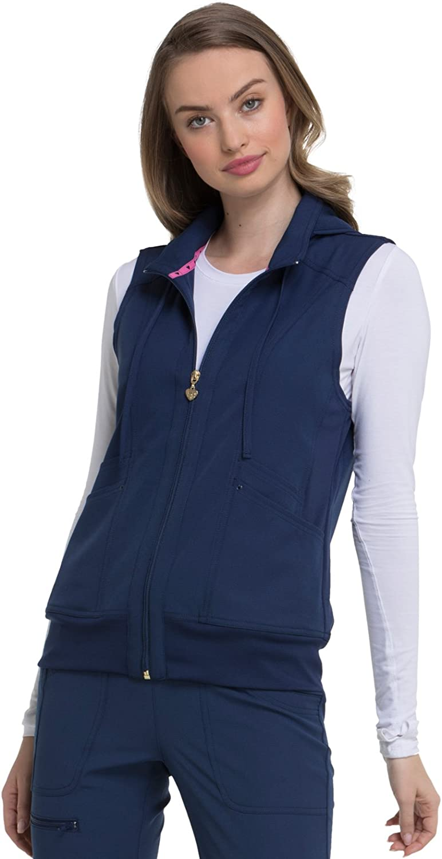 HeartSoul Break on Through HS500 Women's In-Vested Love Solid Scrub Vest: Clothing