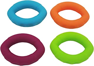 WINOMO – Fortalecedor de Mãos de Silicone com 4 Peças de Anéis de Exercícios Redondos para Alívio e Reabilitação de Lesões...