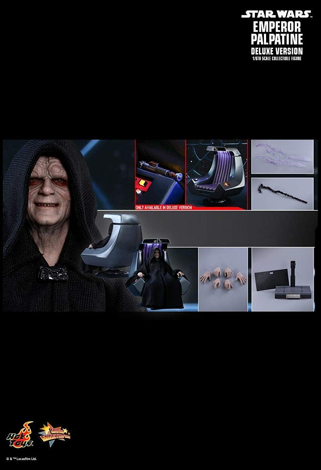 Hot Toys MMS468 - Star Wars 6   Return of The Jedi - Emperor Palpatine Deluxe