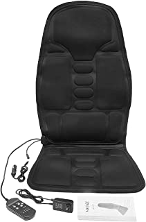 Asiento eléctrico Mulifunction Volver climatizada Masaje coche de Ministerio del Interior del amortiguador de asiento silla del coche de la parte posterior lumbar masajeador de cuello cojín de Relajac