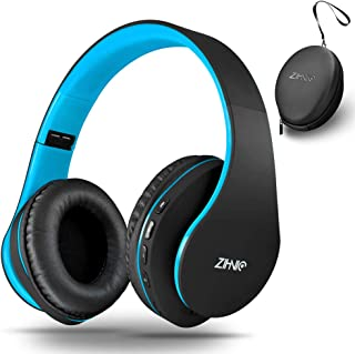 Wireless Over-Ear Headset with Deep Bass, Bluetooth and Wired Stereo Headphones Buit in Mic for Cell Phone, TV, PC,Soft Ea...