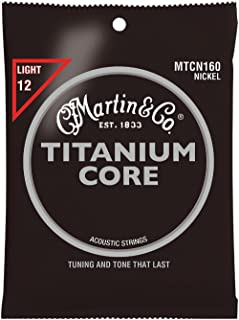 Martin Strings Titanium Core Light Acoustic Guitar Strings (MTC160)