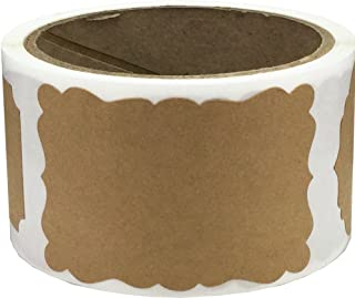 Brown Natural Kraft Gift Tag Labels, 51 x 76 mm 2 x 3 Inch Present Stickers 100 Pack