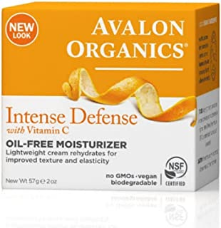 Avalon Organics Intense Defense with Vitamin C, Oil-Free Moisturizer, 2 Ounce (Pack of 2)