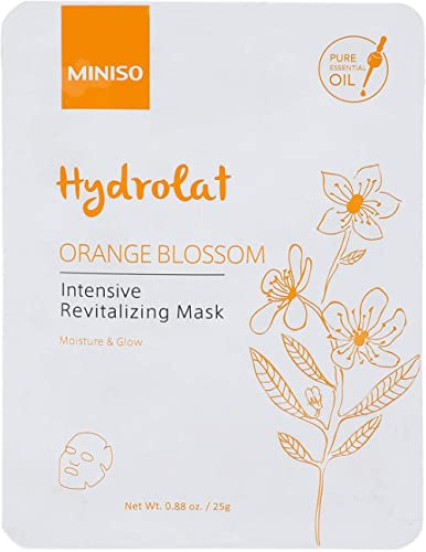 MINISO Orange Blossom Intensive Revitalizing Face Masks, Nature beauty product, Hydrating sheet mask for women (1 Pack)