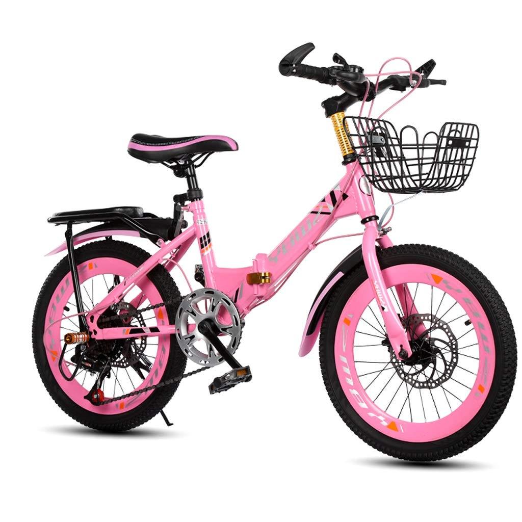 Xiaoping Bicicleta para niños Plegable Bicicleta de montaña Velocidad 20 Pulgadas 6-8-10 años Bicicleta de niña Chico (Color : Pink): Amazon.es: Deportes y aire libre