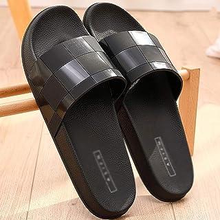 LEPSJGC Chaussures d'été pour Hommes Mode Dérificelle Plateforme Pantoufles Salle de Bain Baignoire Chaussons à la Maison ...