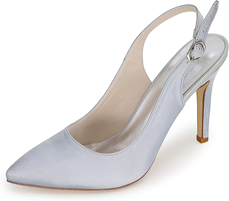 CCBubble Stiletto Heels Bridal Sandals Women Pointed Toe Satin Women Party shoes