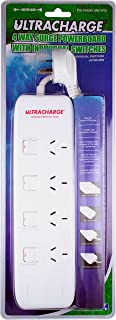 ULTRACHARGE 4 Way Surge Power Board with Individual Switches (UR100/4SW)