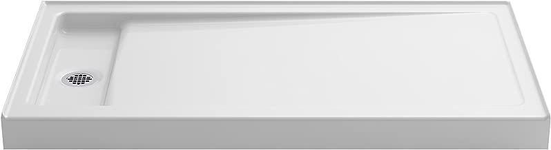 KOHLER K-9163-0 Bellwether 60-Inch x 32-Inch Single-Threshold Shower Base with Left Center Drain, White