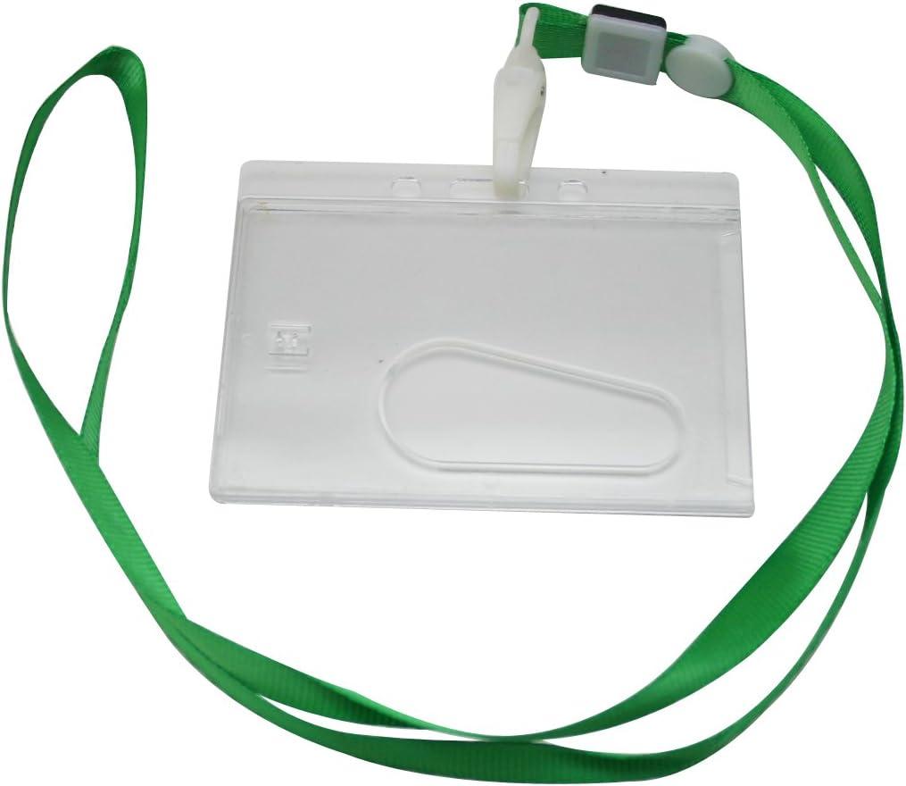 Ailisi Horizontal Card Holder Neck Strap Green Color 5 popular discount Lanyard Cli