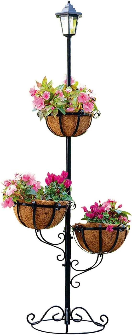 21+ Parkland® Solar Powered 8 Tier Stylish Flower Planter with White ... Fotografie