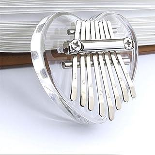 Mini Kalimba à 8 touches en bois/cristal acrylique exquis doigt piano marimba accessoire musical cadeau pour enfants adult...