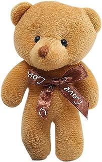 キーホルダー ぬいぐるみ くま テディベア 可愛い熊 動物 くまぬいぐるみ 熊縫い包み クマ 抱き枕 お祝い ふわふわ お人形 女の子 男の子 子供 女性 プレゼント (ブラウン)
