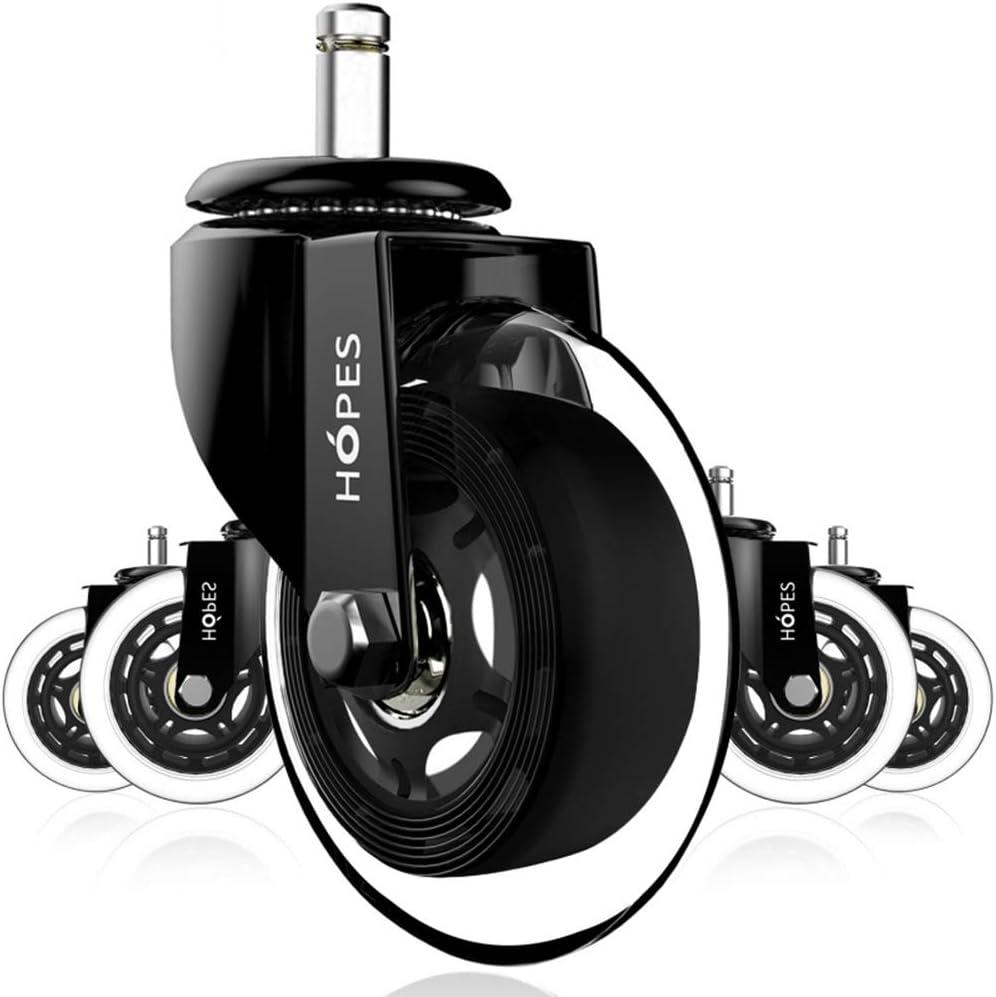 ZHYU Set of 5 Very popular! Office Chair Caster PU 75mm Castor R Wheels mart Swivel