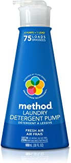 Method Laundry Detergent Pump, Fresh Air, 30 Ounces, 75 Loads