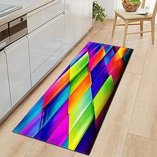 Köksmatta hem sovrum hall golvmatta 3D-mönster dekoration flanellmatta badrum halkfri matta A11 40 x 60 cm
