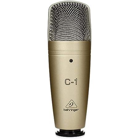 Behringer C-1 Micrófono de condensador (de estudio, XLR, 100 Ω, 40 Hz - 20 kHz), color dorado