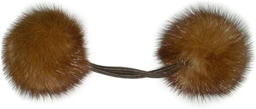 Mink Pom Poms Ponytail Holder