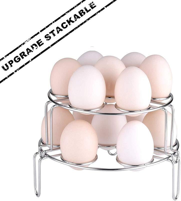 Upgraded Version Steamer Rack Moveland Stackable Egg Vegetable Steaming Trivet For Instant Pot Pressure Cooker