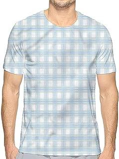 Mens t Shirt Plaid,Grunge Vibrant Folkloric HD Print t Shirt