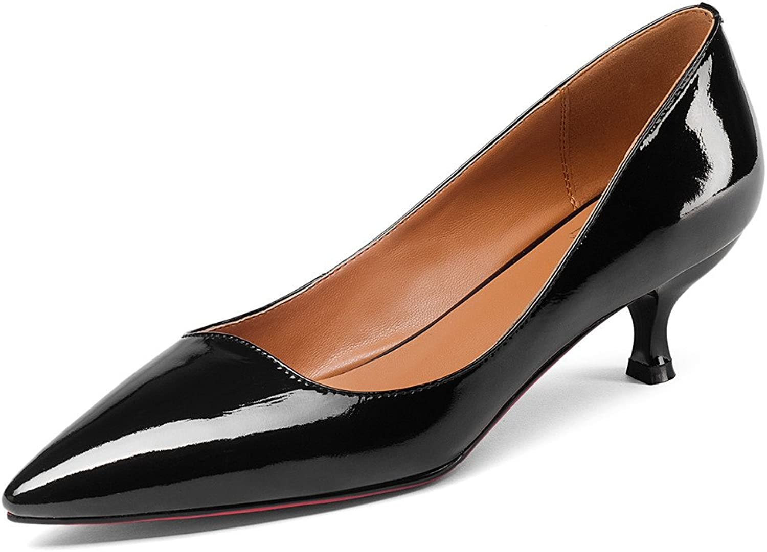 Nine Seven Patent Leather Women's Pointed Toe Stiletto Heel Cute Handmade Party Retro Pump shoes