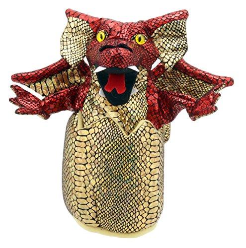 The Puppet Company Bébés Dragons dans Les œufs Marionnette à Main, Rouge