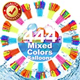 FEECHAGIER Water Balloons for Kids Girls Boys Balloons Set Party Games Quick Fill 444 Balloons 16 Bunches for Swimming Pool Outdoor Summer Fun KKDD1