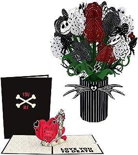 کابوس لاوپوپ دیزنی تیم برتون قبل از کریسمس بسته عشق- کارتهای سه بعدی ، گلهای پاپ آپ ، هدیه روز ولنتاین ، کارت روز ولنتاین ، گلهای پاپ آپ ، کارت برای همسر ، کارت سالگرد