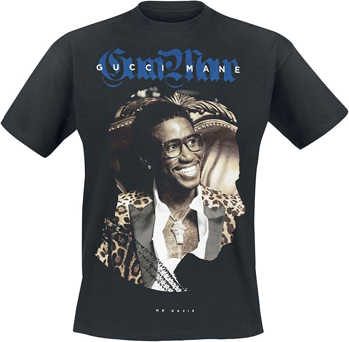 Gucci Mane Leopard tee Hombre Camiseta Negro, Regular: Amazon ...