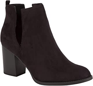 Faux Suede Side Slit Booties