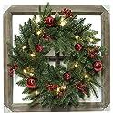 "3-Pack Celebrations 24"" Dia. Prelit Christmas Wreath"