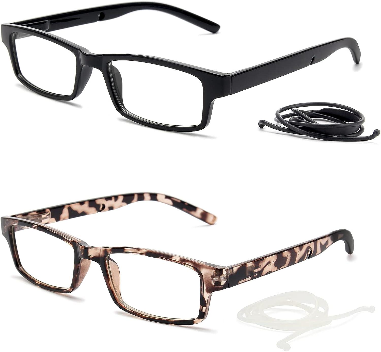 NOVIVON 2-Pack Hanging Reading wholesale Glasses Blue online shop B Lightweight Light