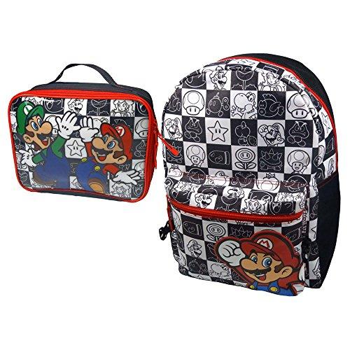 Nintendo Super Mario Bros. Mochila Infantil BIO BP881402NTN Negro 5.9 Liters