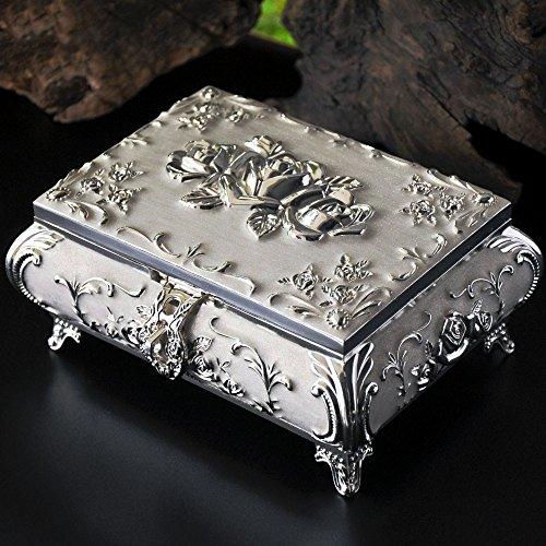 YAXIAO Boîte de Rangement de Bijoux de Main rétro européenne Princesse coréenne boîte à Bijoux Cas cosmétique (Color : White)