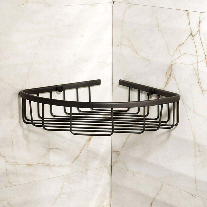 LUDSUY Bathroom Shelf Corner Shelf Bathroom Black bluee Copper Bathroom Accessories Copper-Pod All-Black Bathroom Accessories