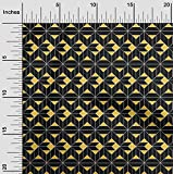 oneOone Jersey Di Viscosa Tessuto Quadrato, Triangolo Diamante & Geometrico Tessuto Stampato Al Metro 60 Largo Pollici