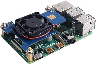 GeeekPi Raspberry pi 4 PoE Hat Soporte IEEE 802.3af o 802.3at PoE estándar, con Ventilador de enfriamiento Raspberry Pi 30...