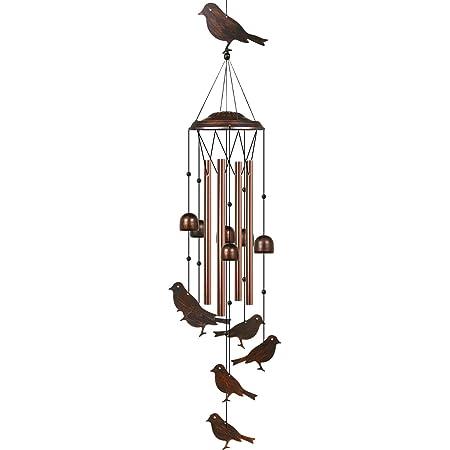 Dekoration Garneck Windspiel Dekoration Hof zum Aufh/ängen Rot Outdoor Windglocken Glas Garten Kolibri Eisen