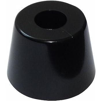 Para atornillar 4x Patas pies redondos /Ø45mm H:15mm para muebles Negro C42712 AERZETIX