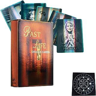 過去の人生オラクルカードホログラフィック友達家族パーティーホリデーハッピーボードゲームギフトカード,with tablecloth,Tarot Cards