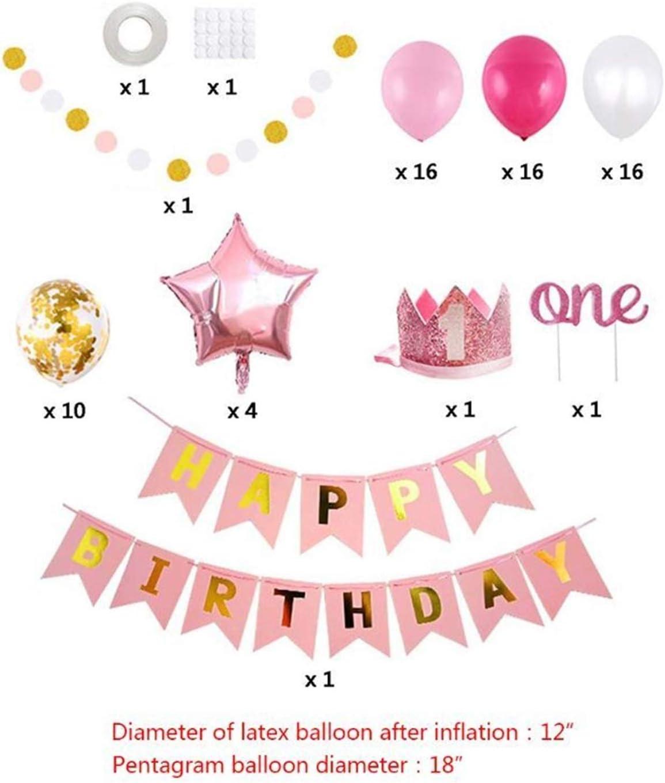 Foil Helium Digital Balloons 1e Latex Metallic Ballonnen Partij Verjaardag Gelukkig Decoration Nummer Ballons Van De Banner Eerste (Color : 5AC703740 A) 5AC703740 A