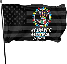 PINGqi Womens National Hispanic Heritage Month Latino Culture USA Flag Banner Breeze Flag Outdoor Flags Home Flag 3' X 5' Ft