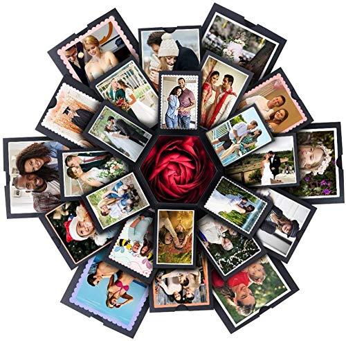 N/A2 Caja de Regalo Creative, Álbum de Fotos Hecho a Mano de Bricolaje, Explosion Box, Caja de Regalo, DIY Álbum de Fotos Libro de Recuerdos.