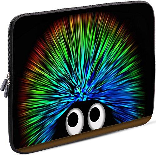 Sidorenko Tablet PC Tasche für 10-10.1 Zoll - Universal Tablet Schutzhülle - Hülle Sleeve Hülle Etui aus Neopren, Grün/Schwarz