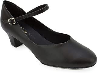 So'Danca Women's Practice Character Ballroom Shoe 1.5in heel Black