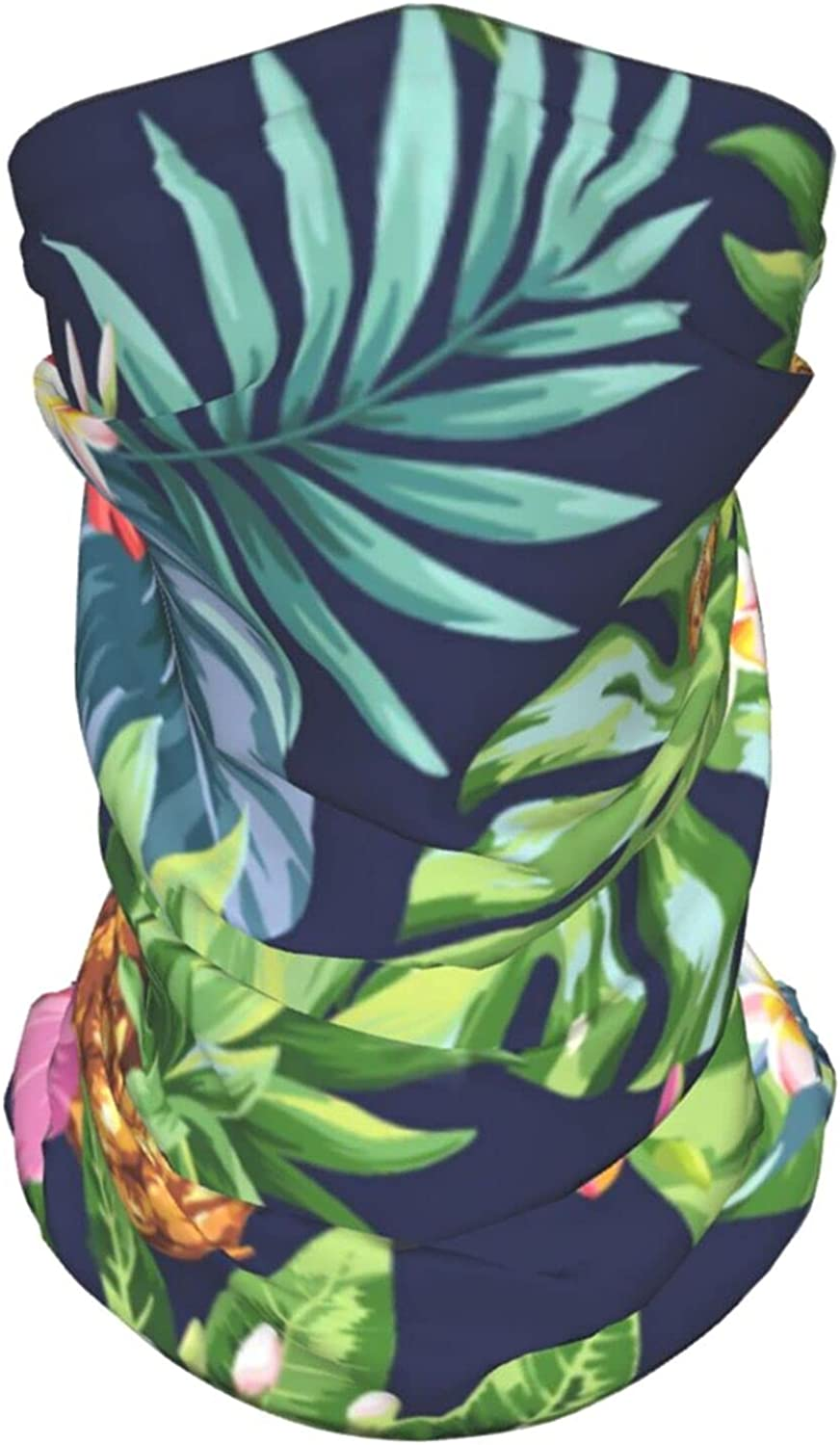 Tropical Pattern Neck Gaiter Multipurpose Headwear Ice Silk Mask Scarf Summer Cool Breathable Outdoor Sport 4 Pcs