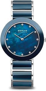 BERING Montre-bracelet analogique à quartz en acier inoxydable pour femme.