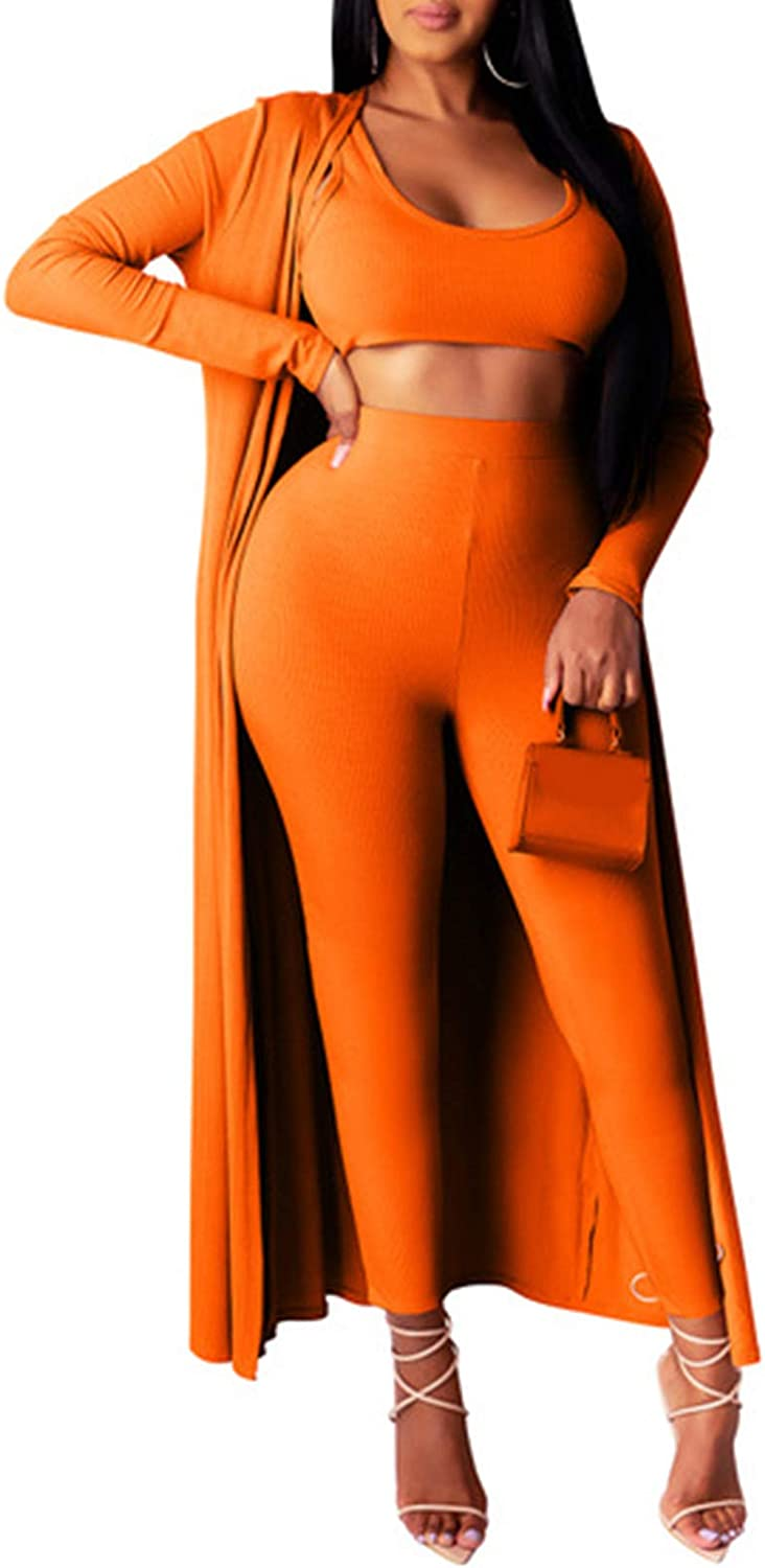 Women's 3 Piece Outfits Ranking TOP12 Wide Luxury Leg Cover Up Top Cardiga Pants Tube