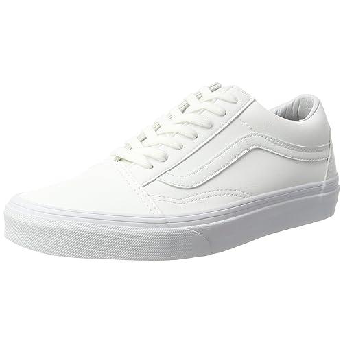 31f762c814 White Leather Vans  Amazon.com